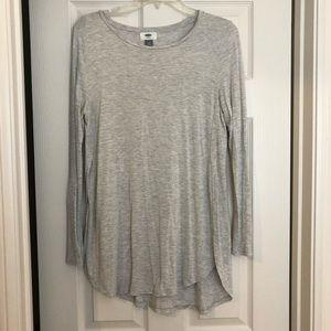 Tops - Tunic length gray long sleeve